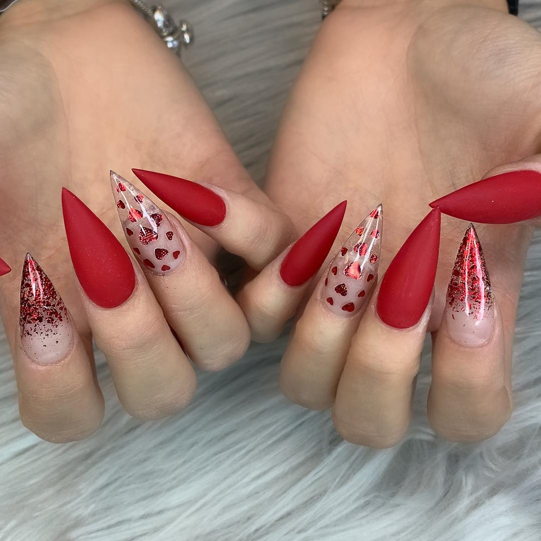 69 Trendy Red Acrylic Nail Designs Page 15 Tiger Feng