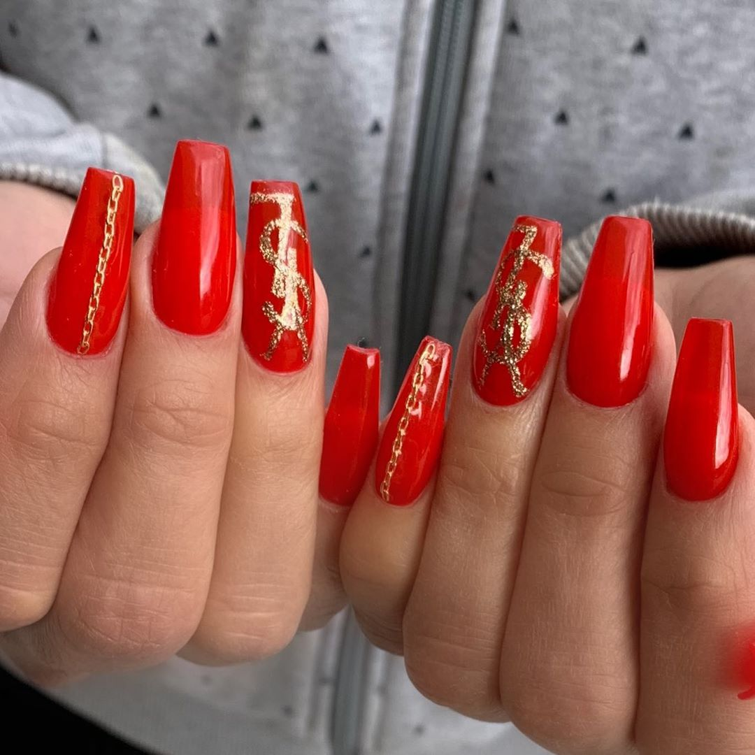 69 Trendy Red Acrylic Nail Designs Page 17 Tiger Feng