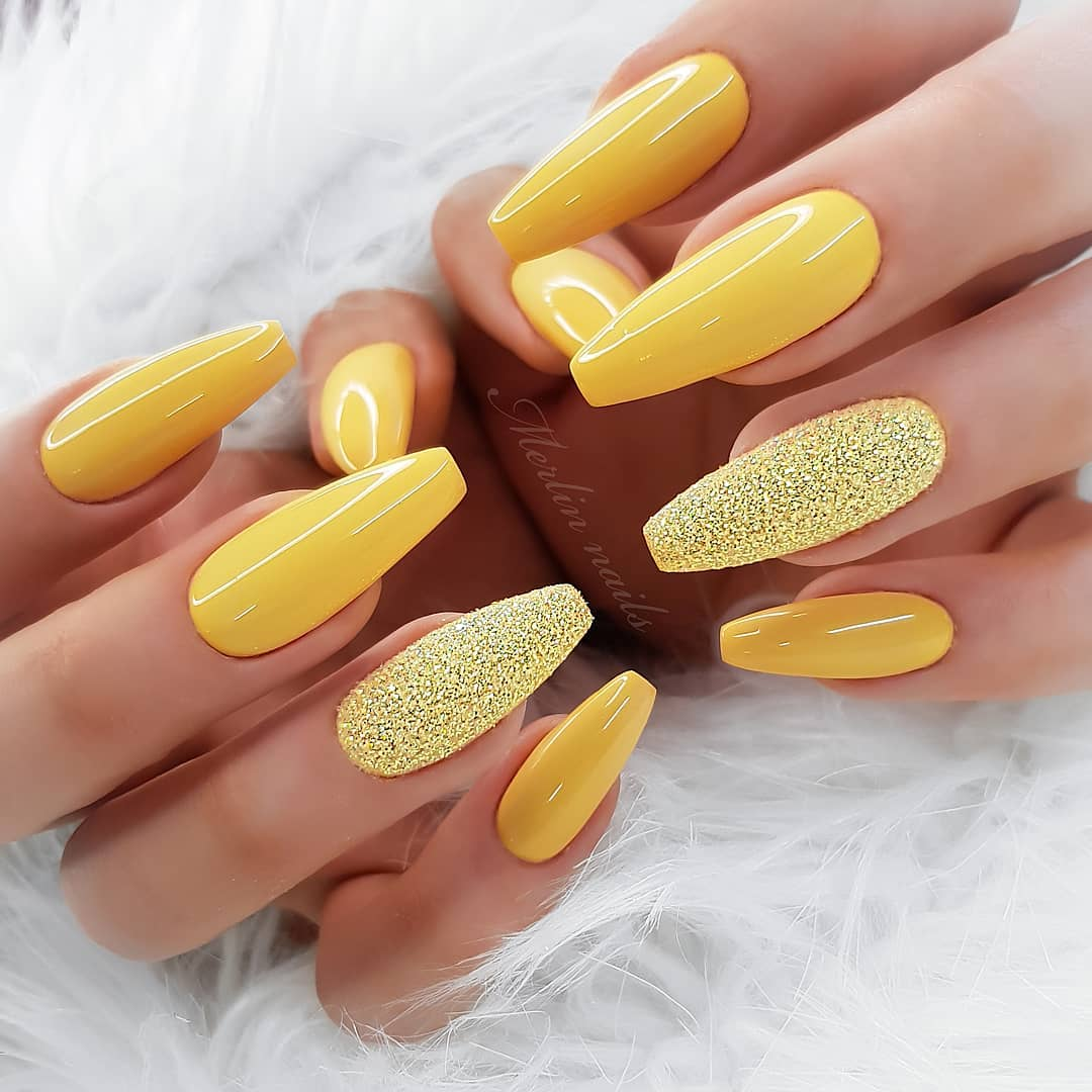 Summer Coffin Yellow Nail Designs Confession Of Rose