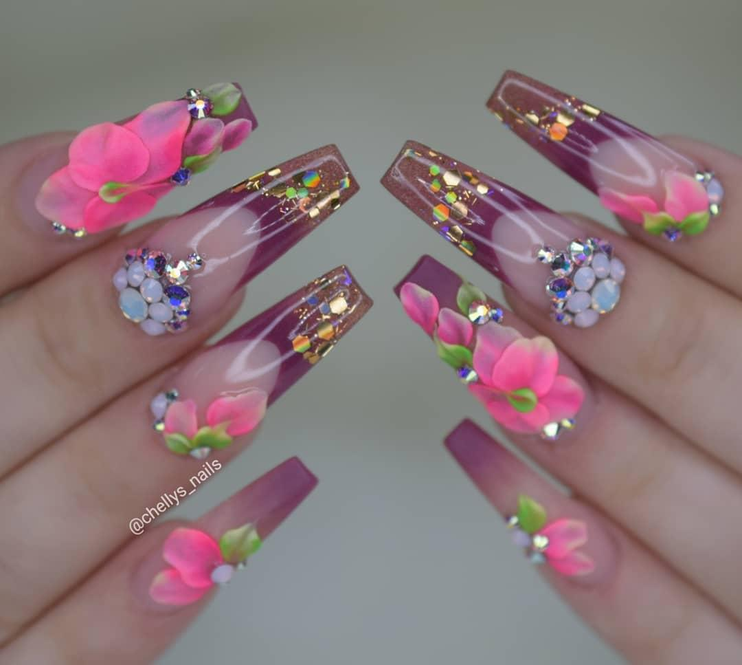 50 Awesome Long Coffin Nail Designs You Must Try