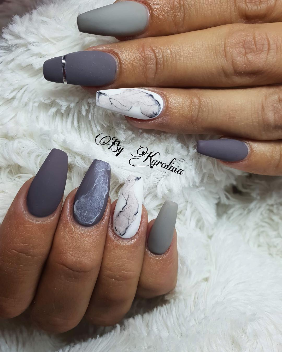 60 Trendy Short Coffin Nail Art Designs