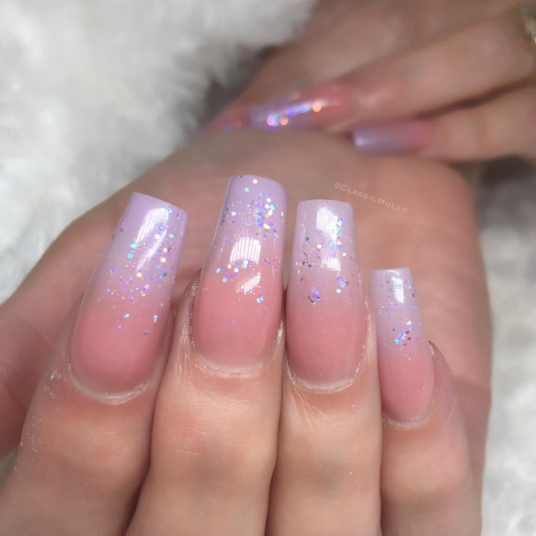 50 Stylish Coffin Ombre Acrylic Nail Art Designs