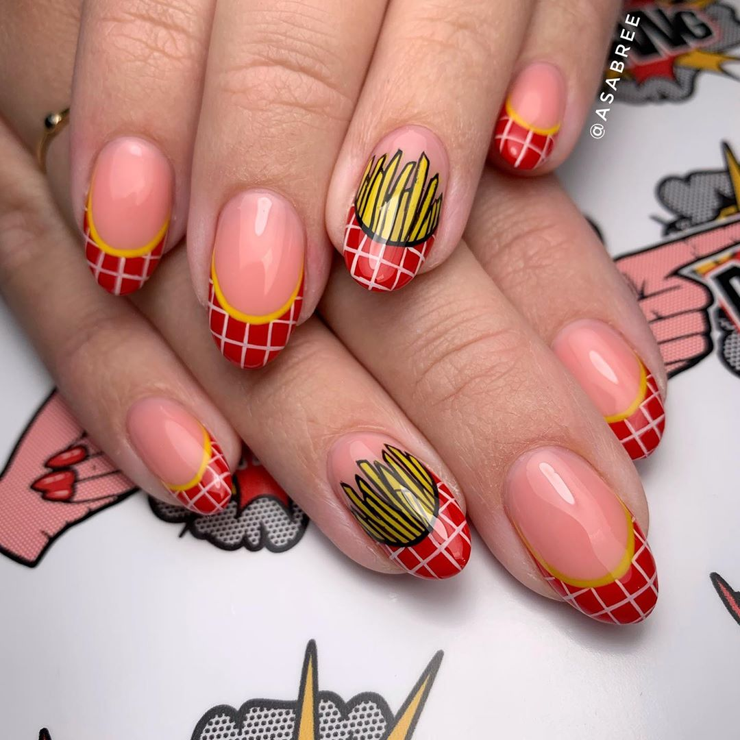 70 Attractive Oval Nail Art Designs and Ideas in 2021