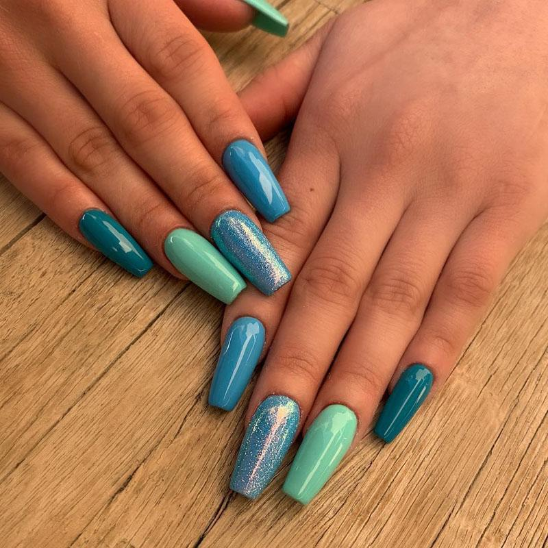 59 Elegant Light Blue Nail Art Designs Ideas