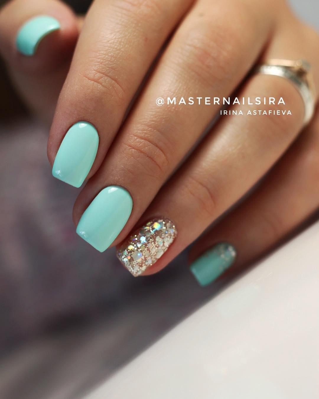 59 Elegant Light Blue Nail Art Designs Ideas