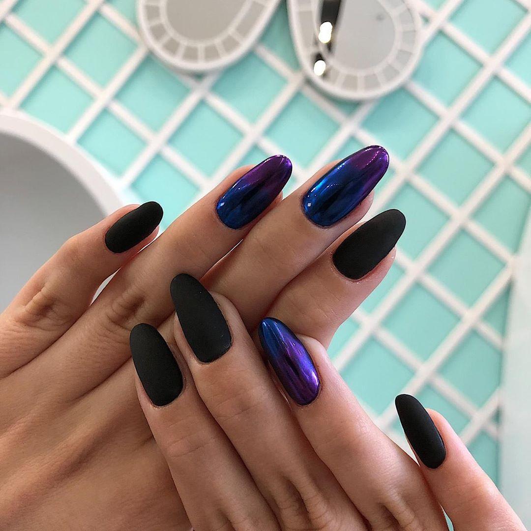 55 Classy Black Nail Art Designs