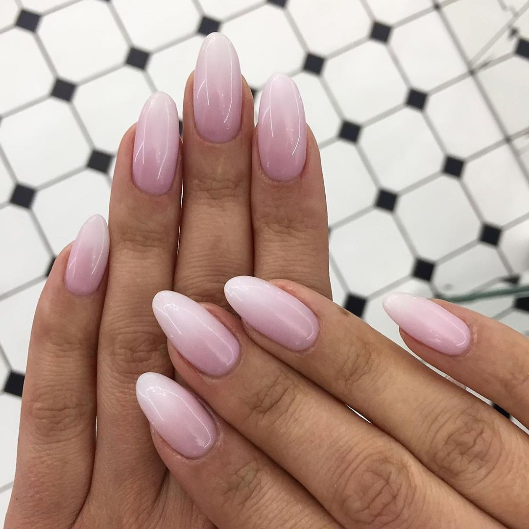 70 Attractive Oval Nail Art Designs and Ideas in 2020