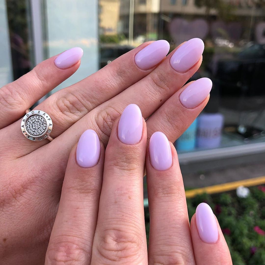 70 Attractive Oval Nail Art Designs and Ideas in 2019
