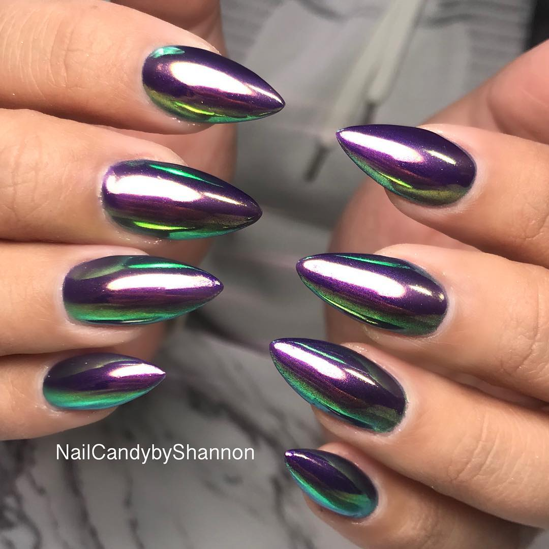 53 Pretty and Popular Chrome Nail Art Designs