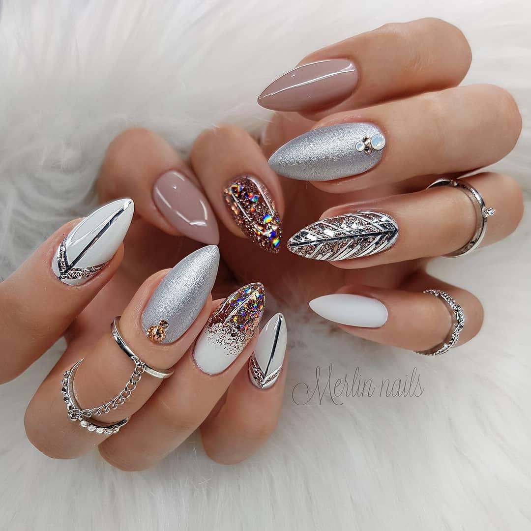 58 Stylish Almond Nail Art Designs