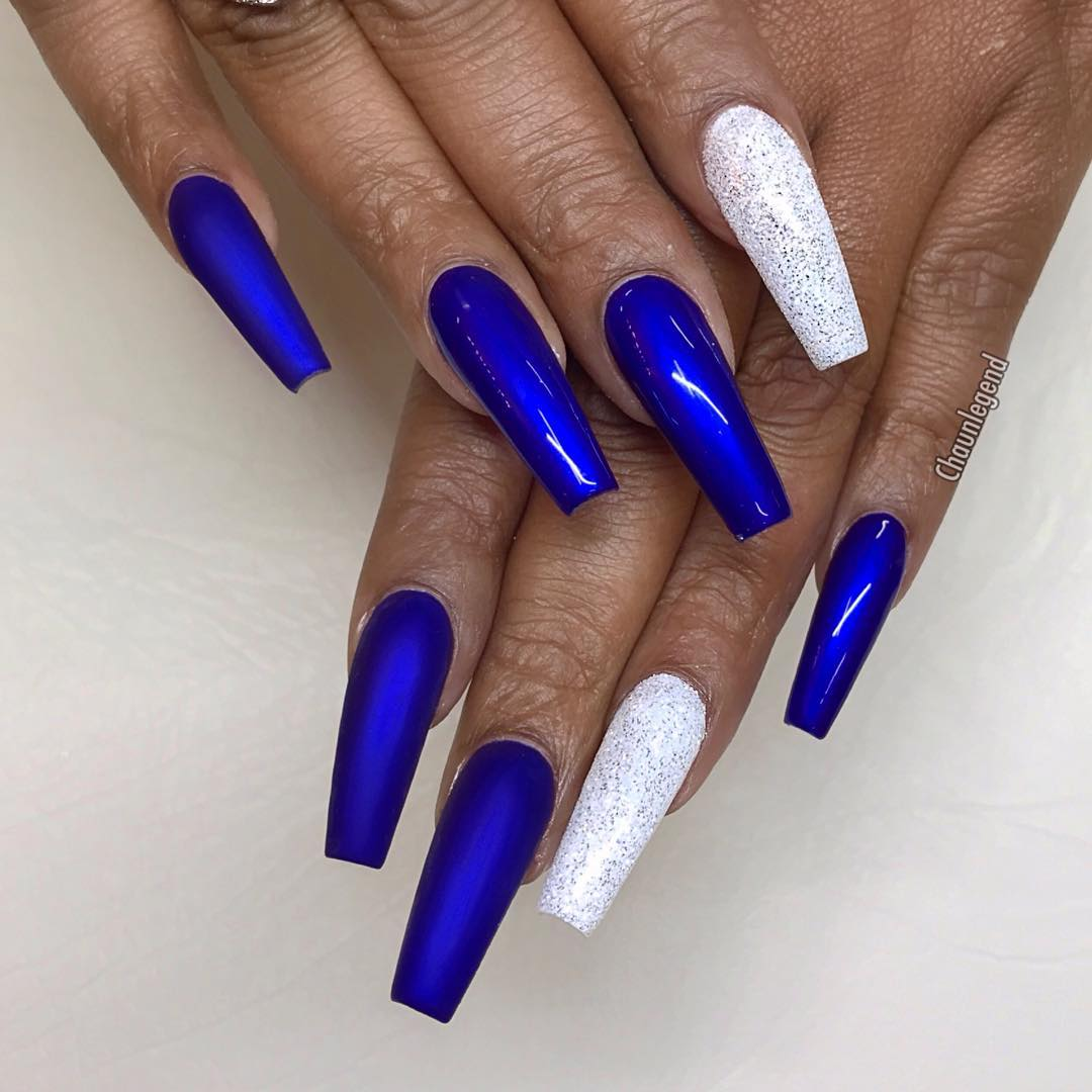 54 Dark Blue Nail Art Designs Ideas