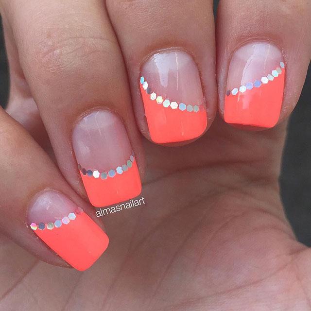 34 Popular Coral Nail Designs