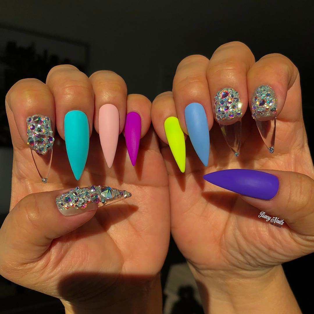 45 Gorgeous Matte Stiletto Nail Designs