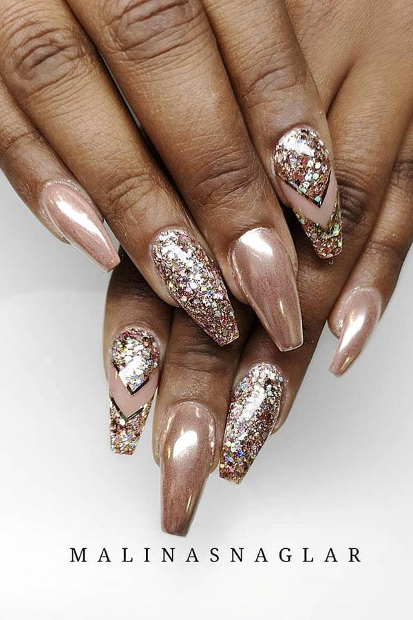 55 Stylish Coffin Nail Designs To Copy Right Now