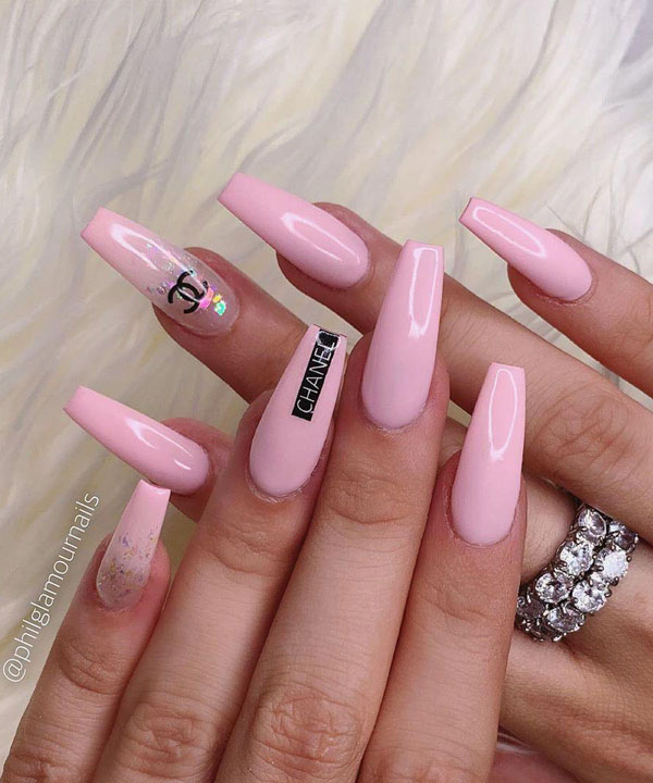 60 Elegant Coffin Nail Art Designs