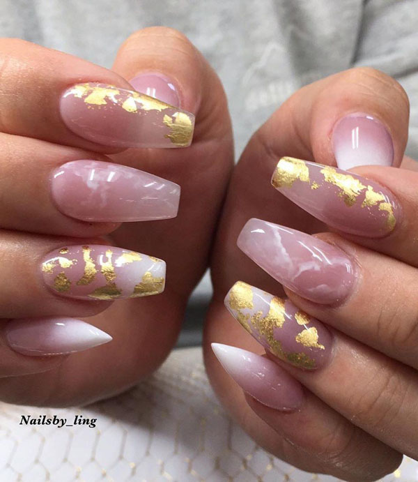60 Pretty Foil Nail Art Designs