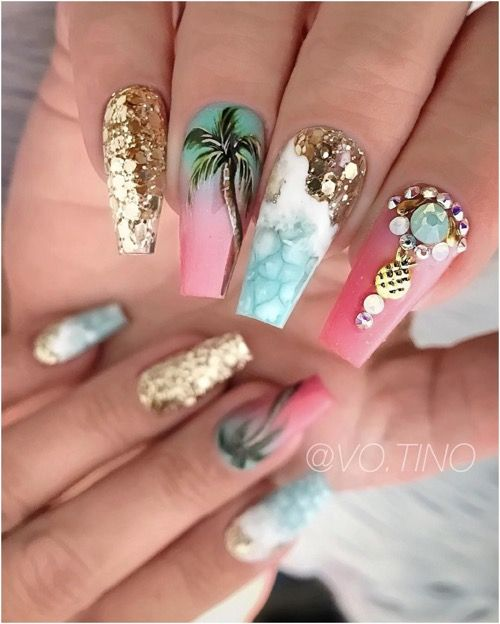 59 Amazing Palm Tree Nail Designs For Summer – Page 59 – Tiger Feng