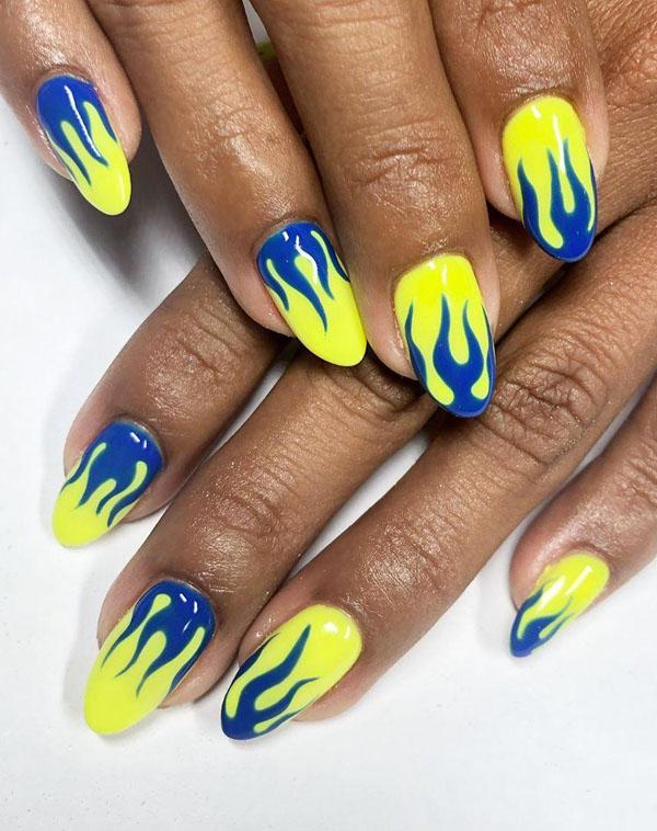 51 Stylish Fire Nail Art Design Ideas You Must Try