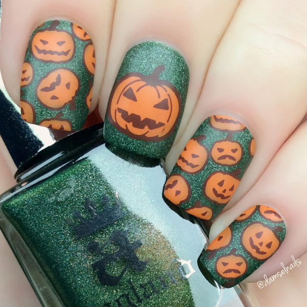 60 Clever Halloween Nail Designs and Ideas