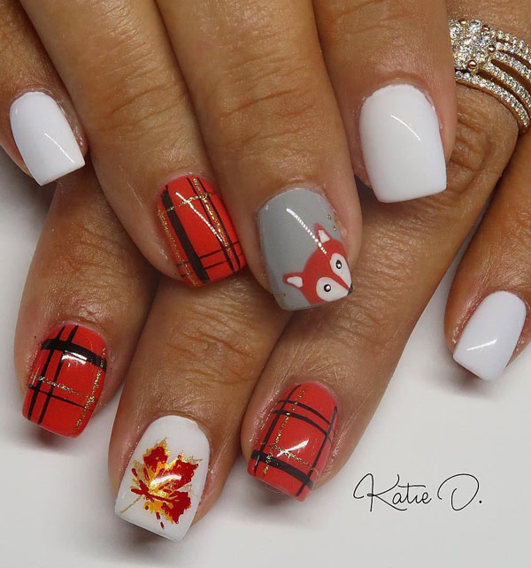 54 Thanksgiving Nail Art Designs