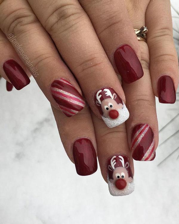 60 Festive Christmas Nail Art Designs \u0026 Ideas for 2019