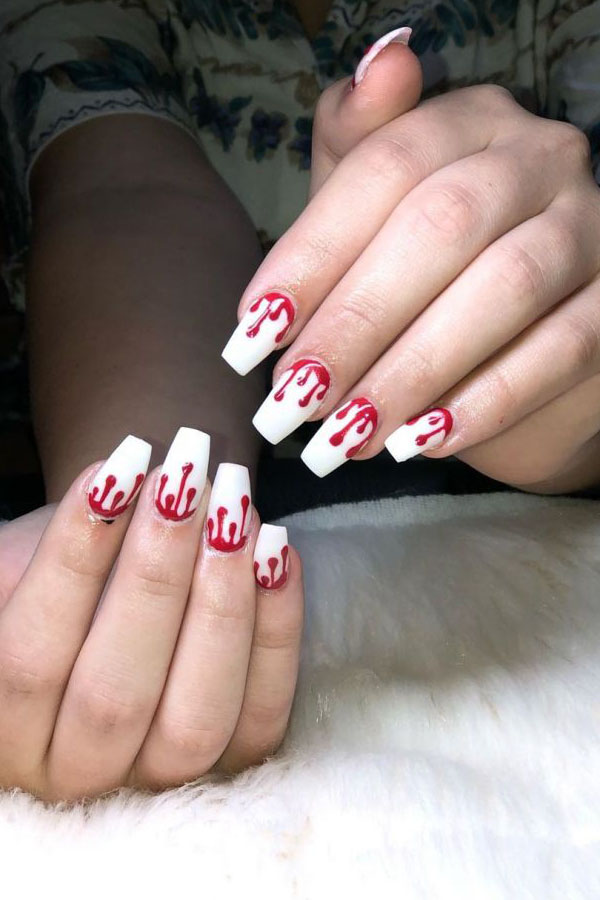 50 Spooky Bloody Halloween Nails For 2019