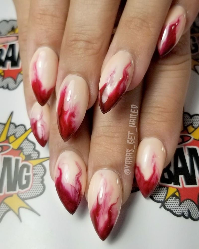 60 Spooky Bloody Halloween Nails For 2019