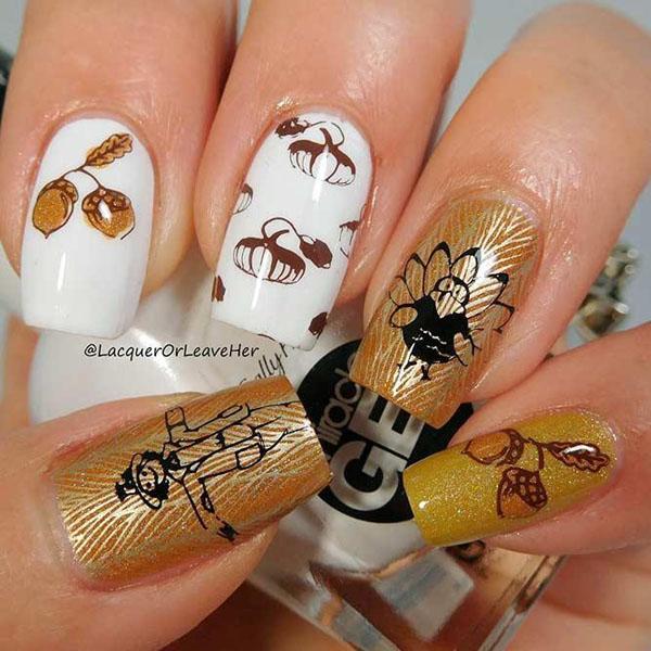 54 Thanksgiving Nail Art Designs