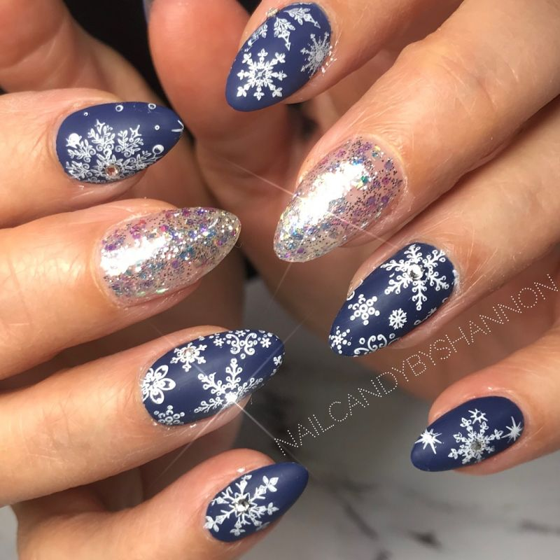 50 Cute Snowflake Nail Art Designs For Winter