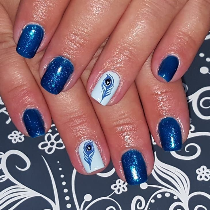 53 Gorgeous Peacock Nail Designs Just For You