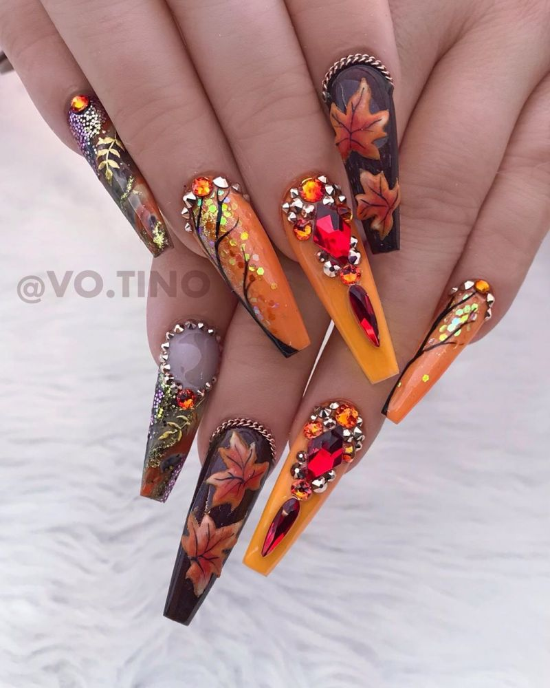 45 Trendy Fall Nail Art Designs to Try Right Now