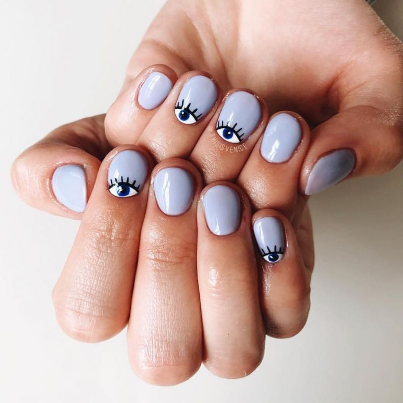 50 Stylish Evil Eye Nail Art Designs For Halloween