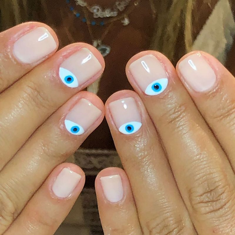 50 Stylish Evil Eye Nail Art Designs For Halloween