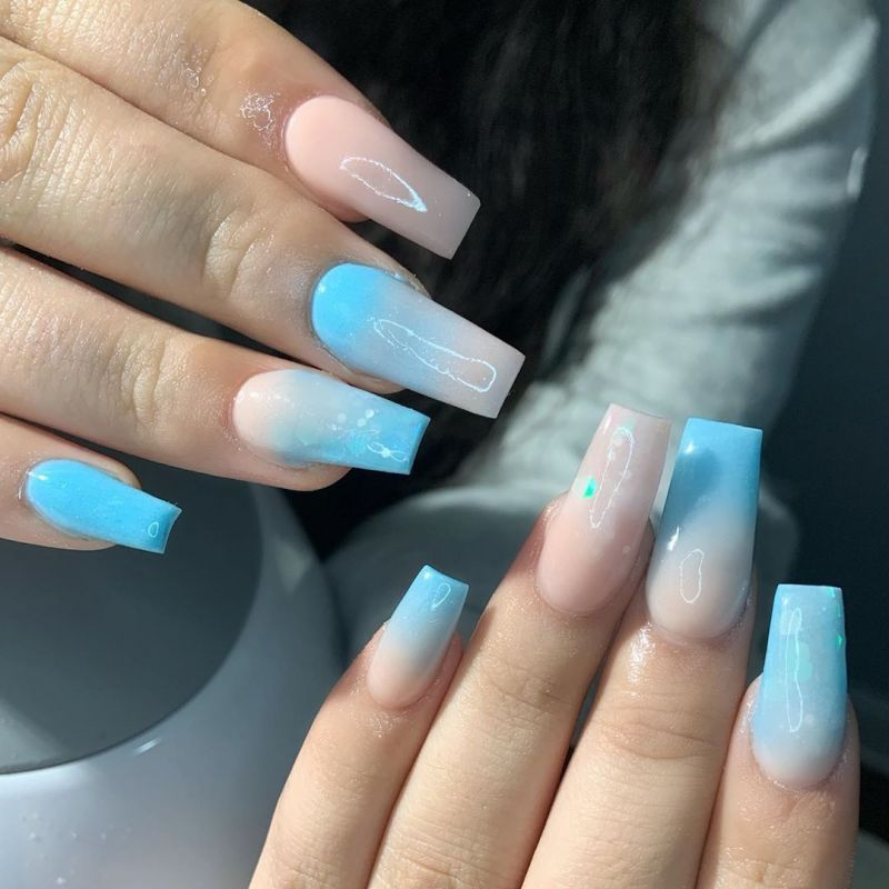 60 Sweet Cotton Candy Nail Art Designs You Will Like