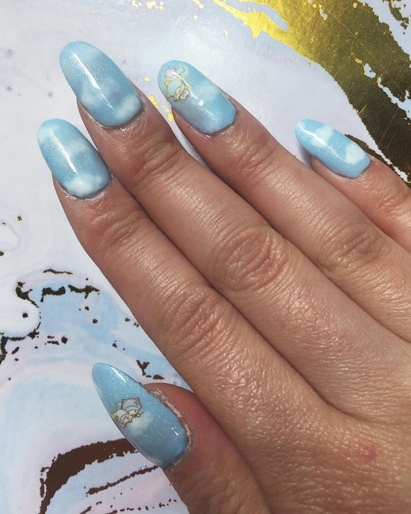 34 Pretty Cloud Nail Art Designs You Must Try