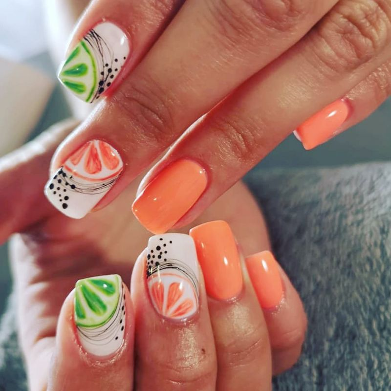 60 Cute and Tasty Fruit Nail Art Designs Just For You