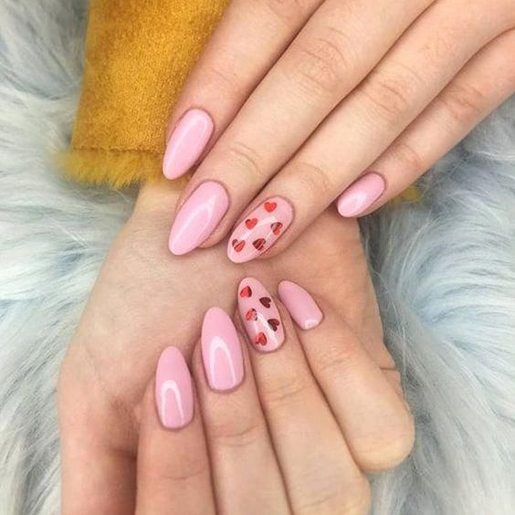 50 Trendy Acrylic Nail Designs for Valentine's Day