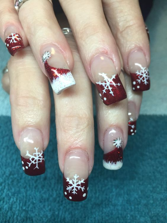 45 Gorgeous Christmas Nails Holiday Santa Hat To Inspire You