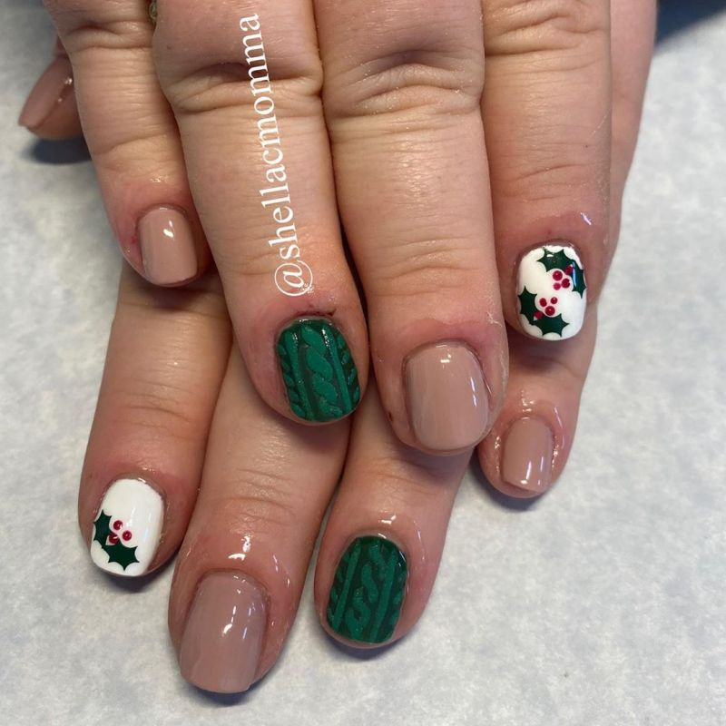 56 Trendy Christmas Sweater Nails You Will Love