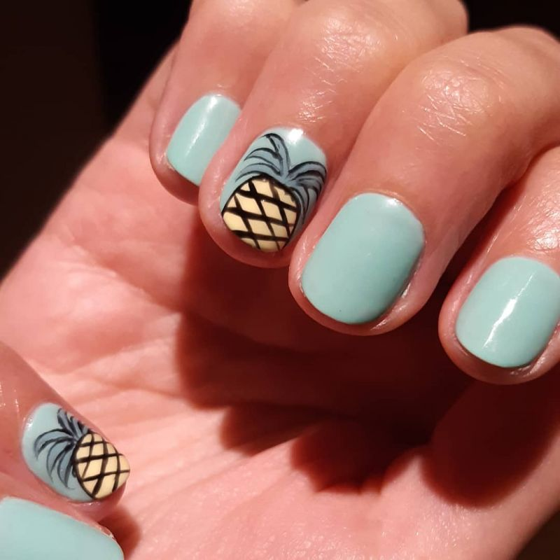 52 Pretty Pineapple Nail Designs You Will Love