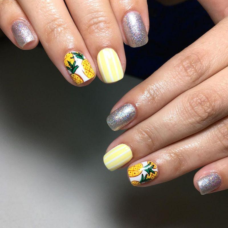 52 Pretty Pineapple Nail Designs You Will Love