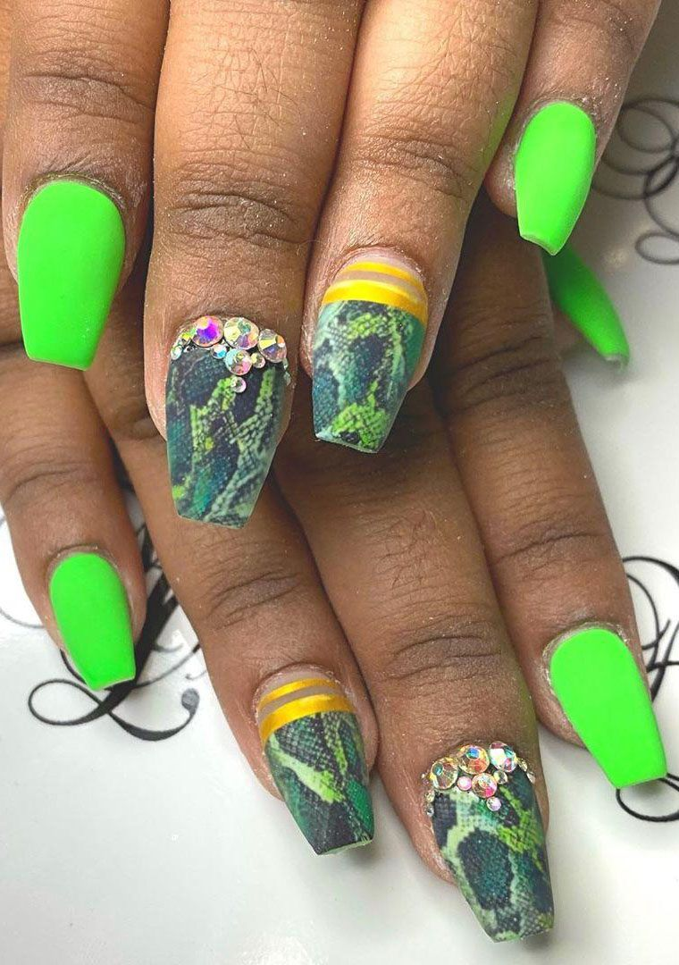 55 Awesome Snake Skin Nails You Have to Try