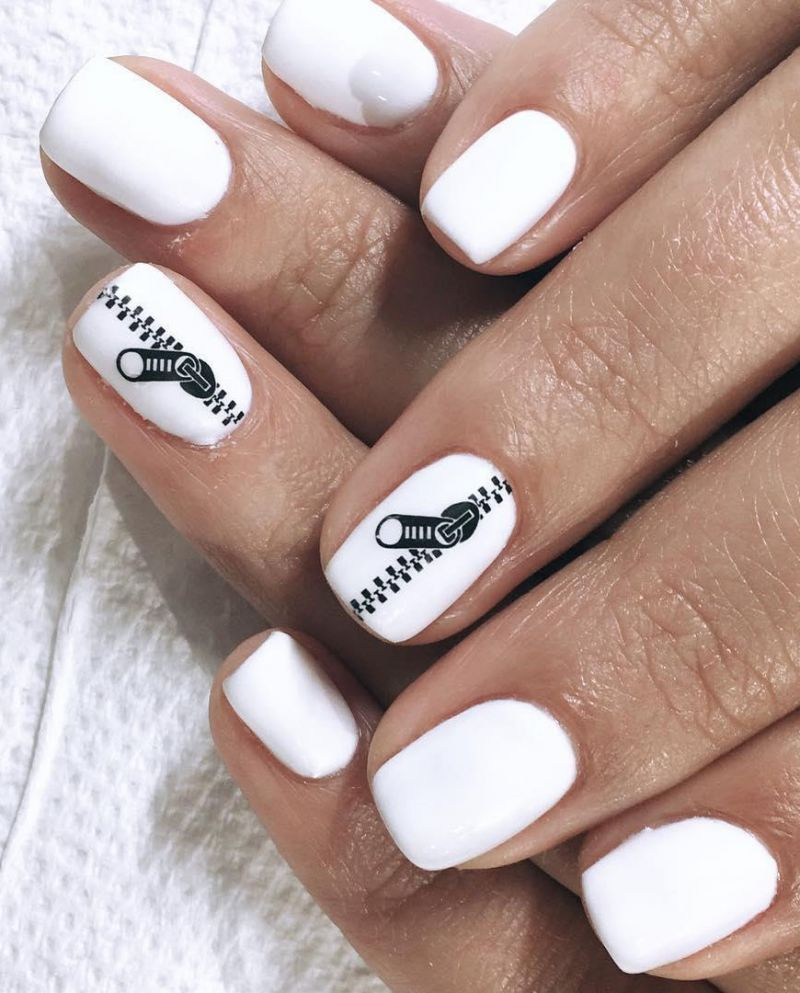 55 Stylish Zipper Nail Art Designs For Inspiration