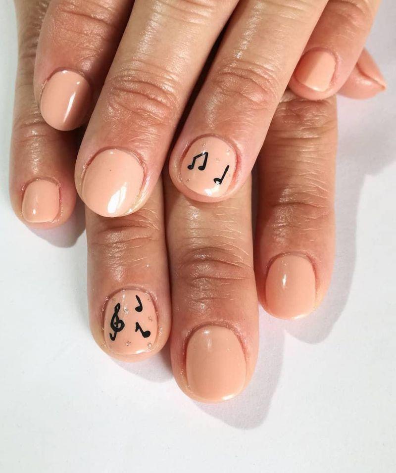 55 Elegant Music Nail Art Designs Make You Feel Happy