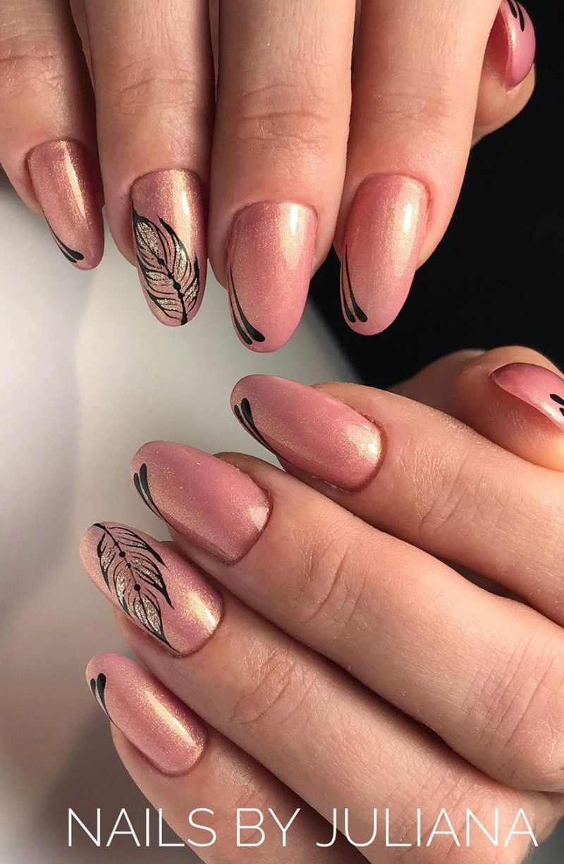 55 Fantastic Feather Nail Art Designs To Inspire You 2020