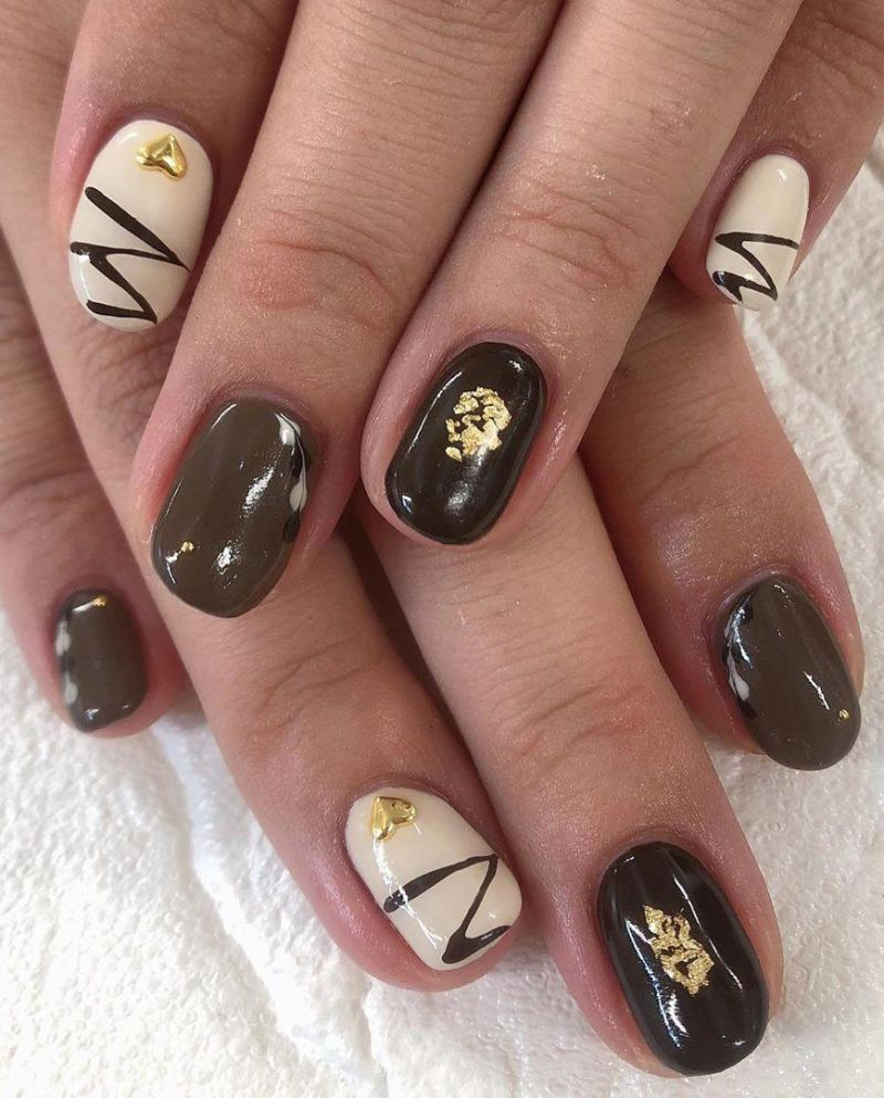 55 Sweet Chocolate Nail Art Designs Make You Fall In Love