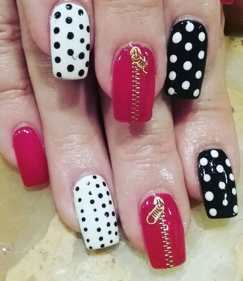 55 Stylish Zipper Nail Art Designs For Inspiration