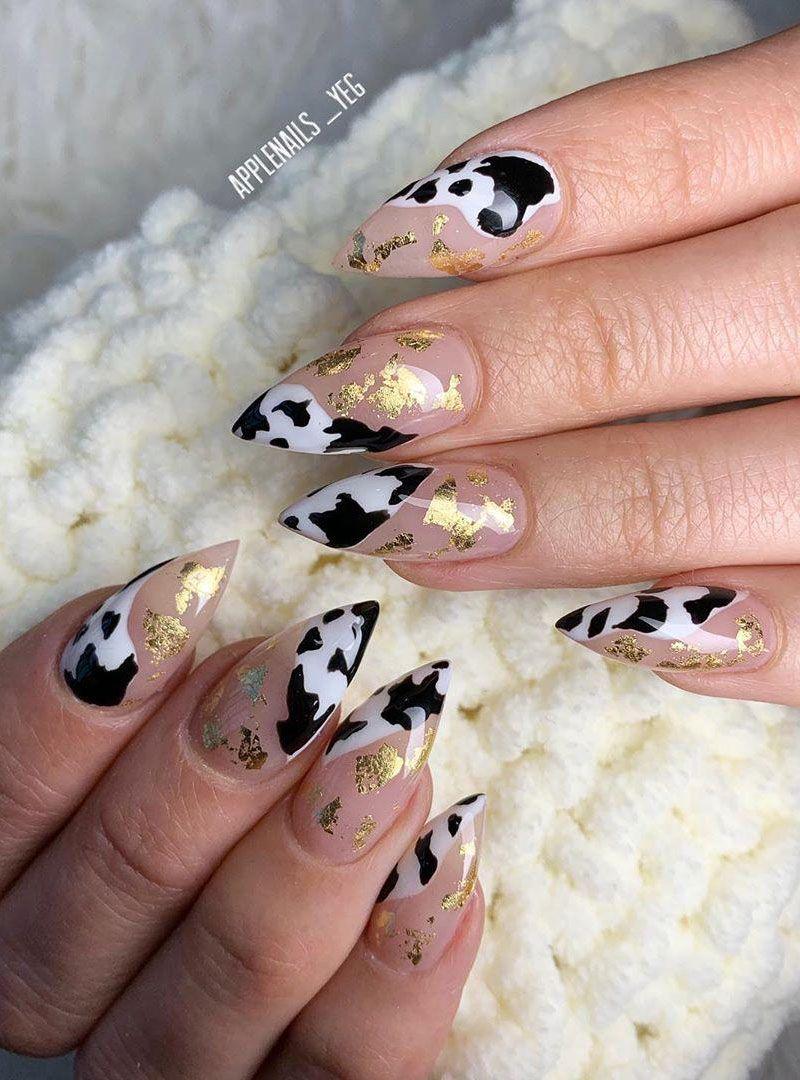 55 Fantastic Cow Print Nail Art Designs You Will love