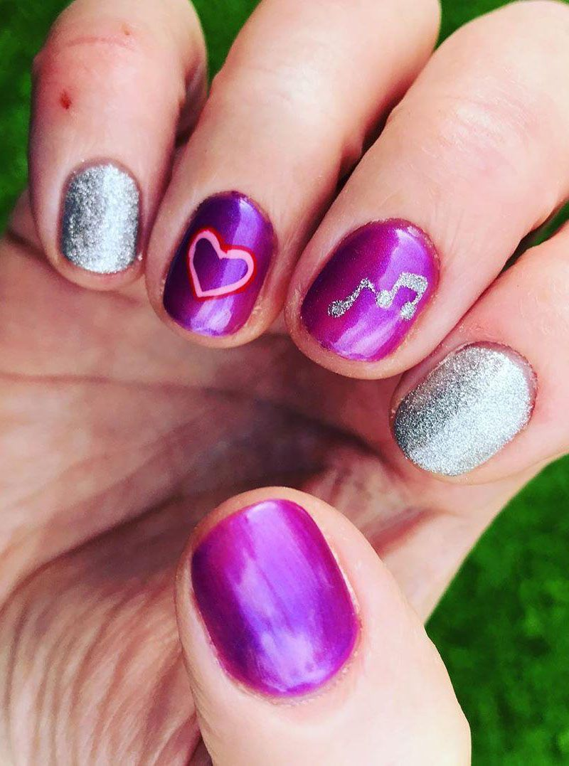 55 Elegant Music Nail Art Designs Make You Feel Happy