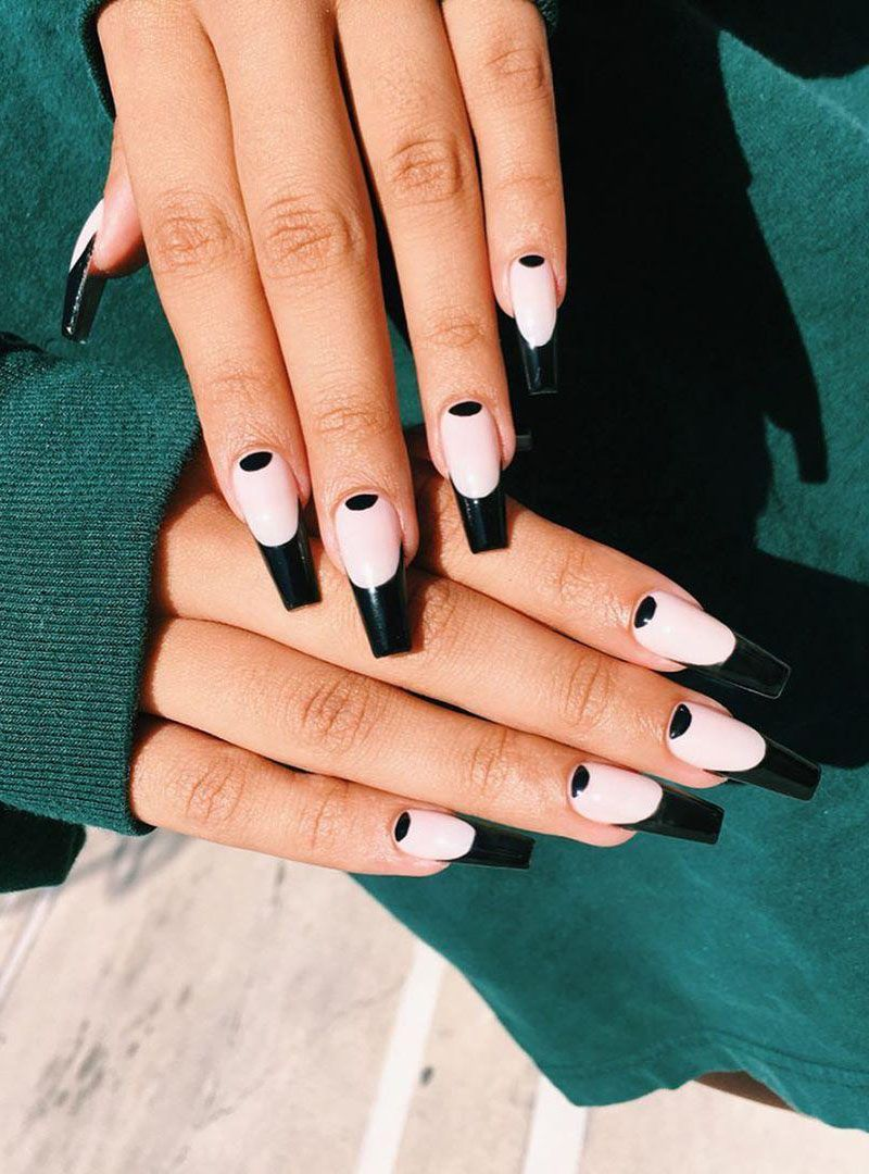 50 Pretty Black French Tip Nails You Must Try